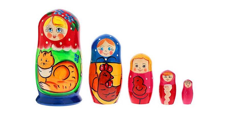 Развивающие игры для детей 1 год и 1 месяц - Матрешки