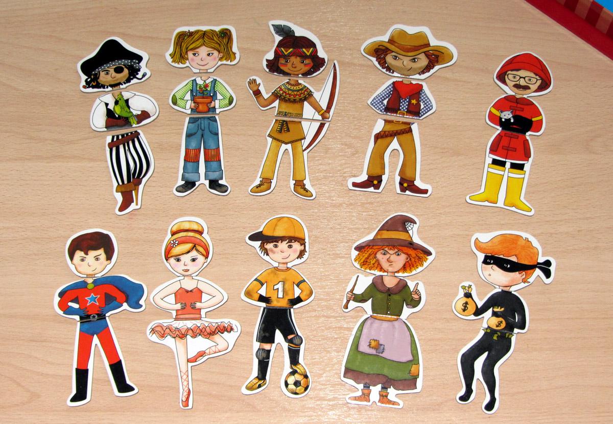 12 персонажей магнитного пазла