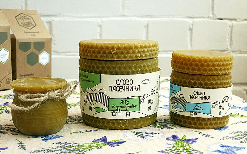 Мёд в натуральный в восковой упаковке