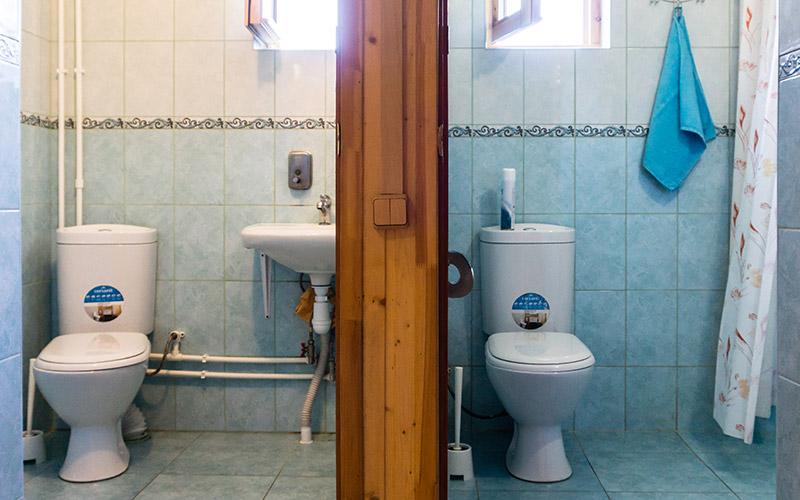 Два туалета, один совмещенный с душевой