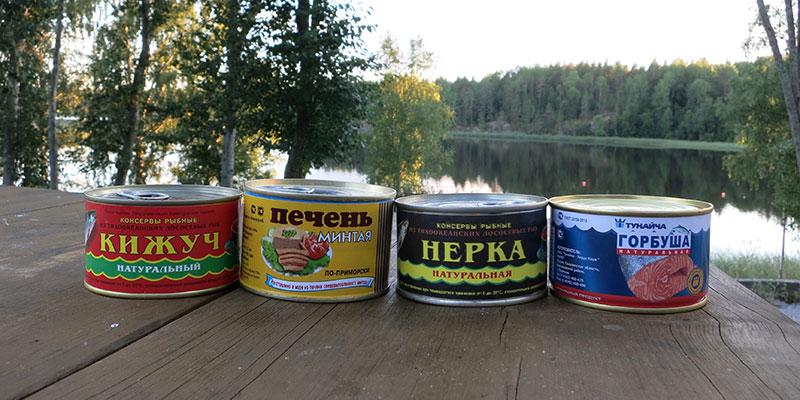 Рыбные консервы в поход