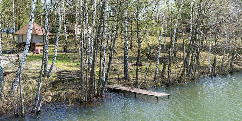 Помост для рыбалки в Орловской области