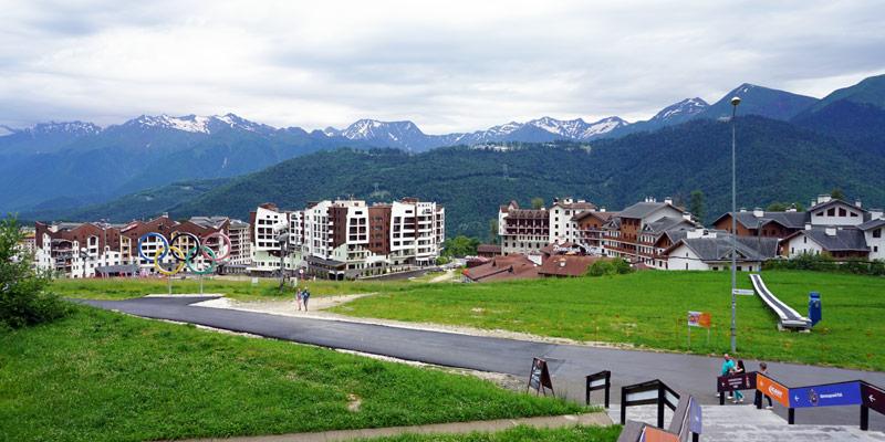 Смотровая площадка на высоте Горная Олимпийская деревня