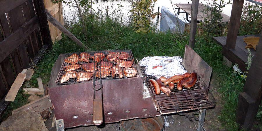 Ужин на природе в 30 км от Орла: шашлык, купаты, фаршированные кабачки