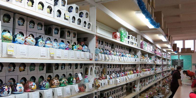 Магазин елочных игрушек