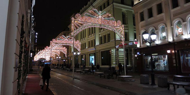 Улицы Москвы украшенные к новому году 2017 - Никольская