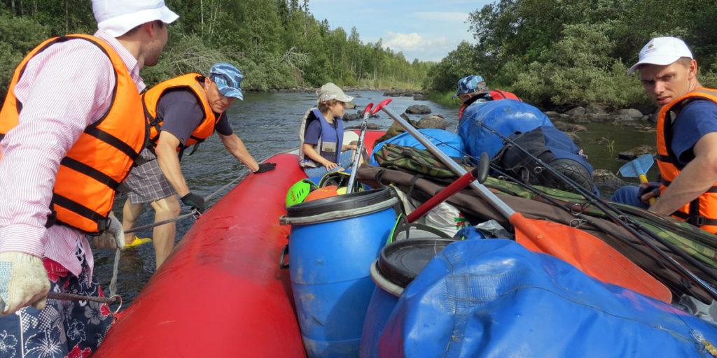 Сплав на рафте по реке Охта в Северной Карелии