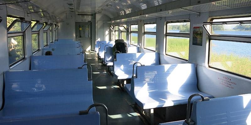 Электричка из Санкт-Петербурга до Карелии, до станции Кузнечное