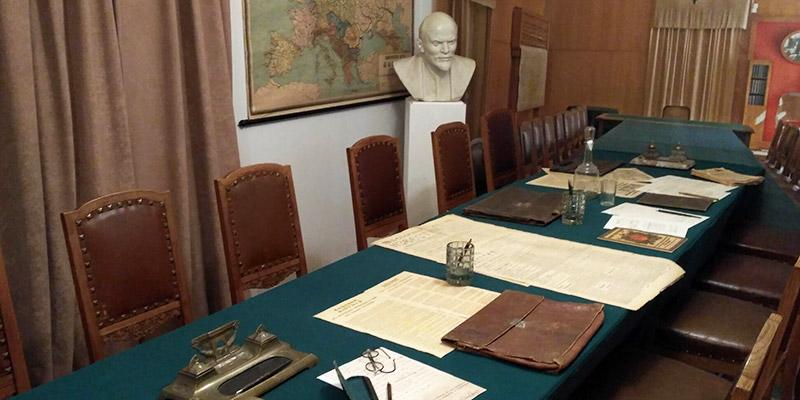Первый легальный Пресненский райком партии большевиков (мемориальный интерьер в музее Пресня)
