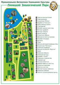 Схема липецкого зоопарка
