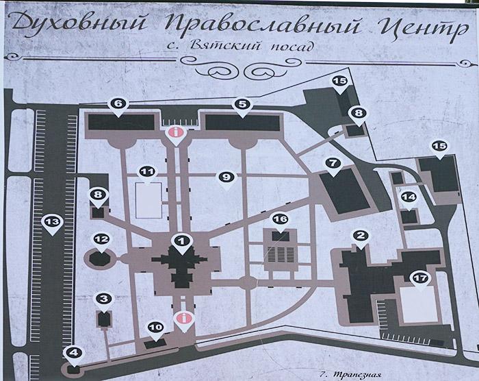 Карта схема расположения объектов центра
