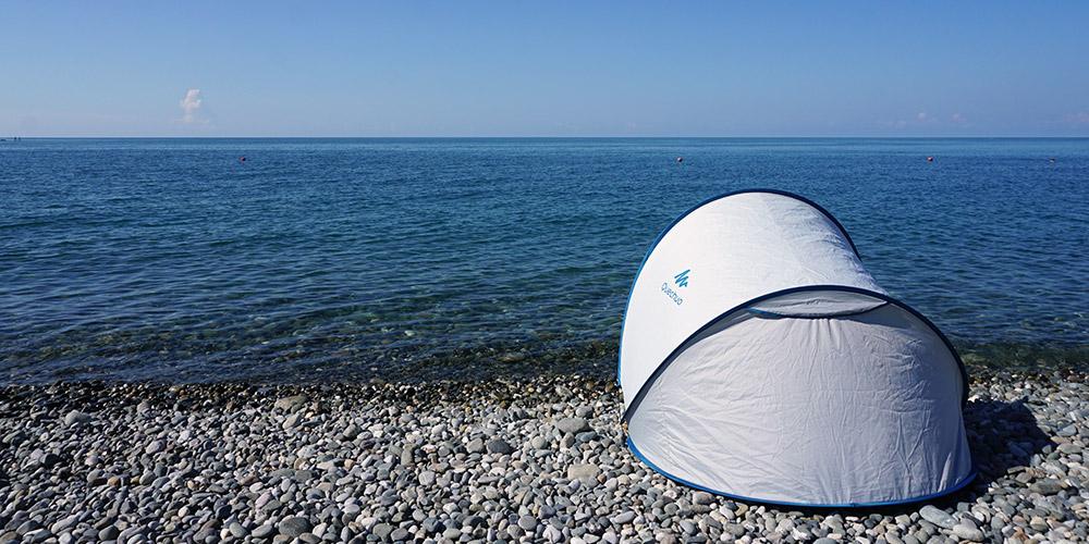 На Черное море с палаткой, Адлер, Сочи