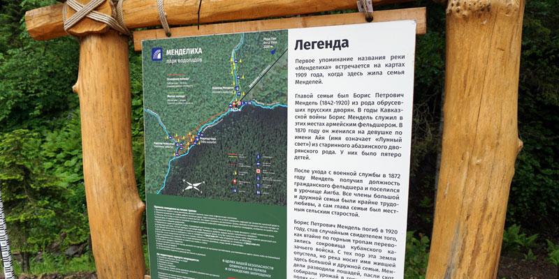 Описание пеших маршрутов по парку водопадов Менделиха