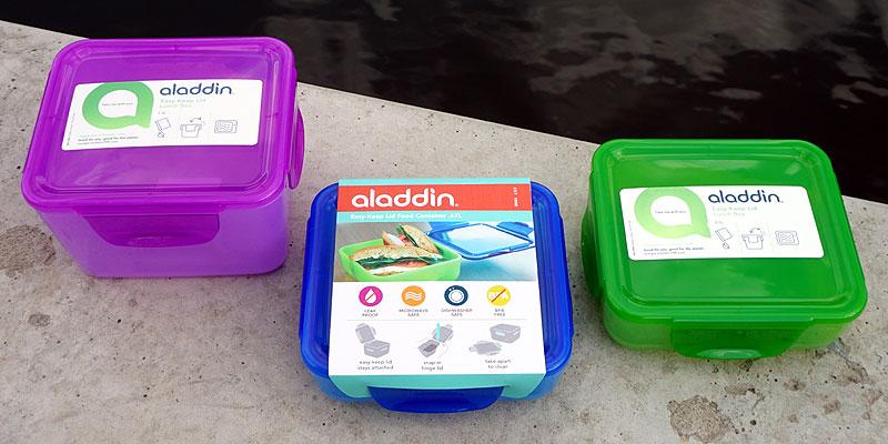 Безопасные пластиковые контейнеры для обедов Aladdin 1.2 литра и 0.7 литра