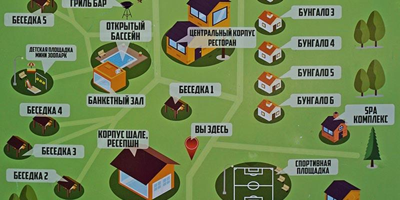 Карта-схема территории отеля Донской лес