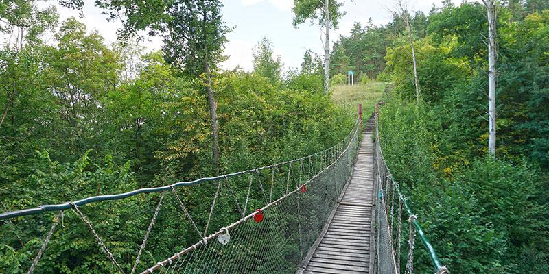 Подвесной мост на мыс Гуськов со смотровой площадкой с видом на Дон