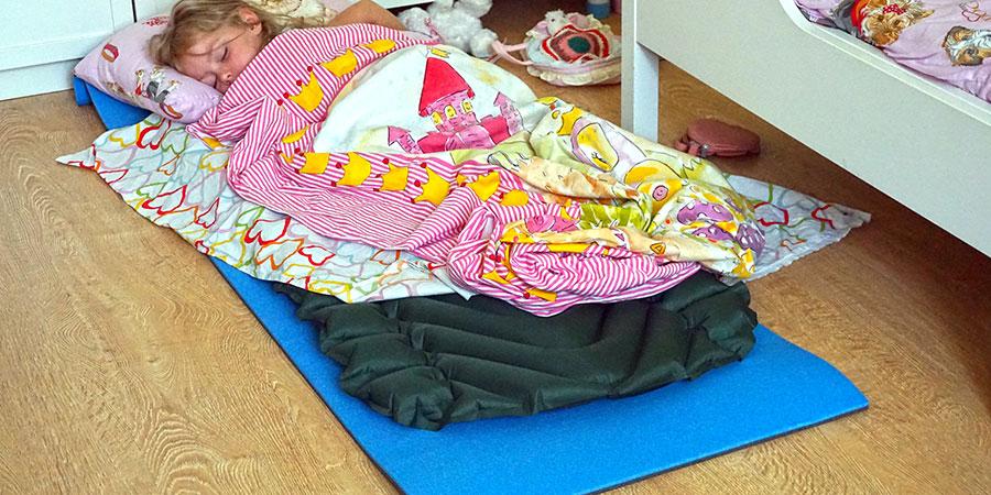 Детский надувной туристический коврик Klymit Static V Junior