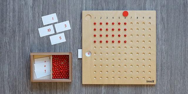 Монтессори доска таблица для умножения