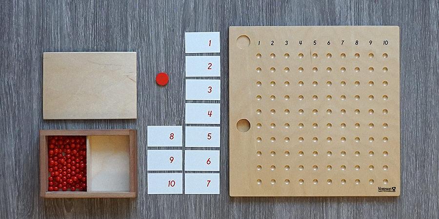 Комплект доски для умножения