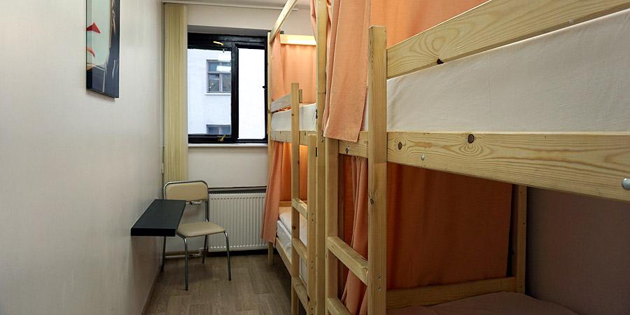 Комната на 4 человек в Найс Хостел Курская