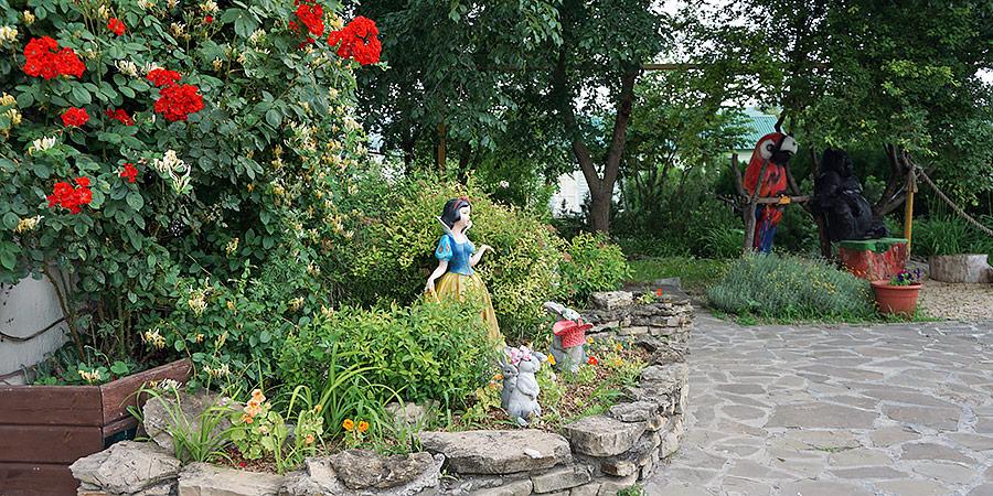Территория парка ДоДо цветники клумбы