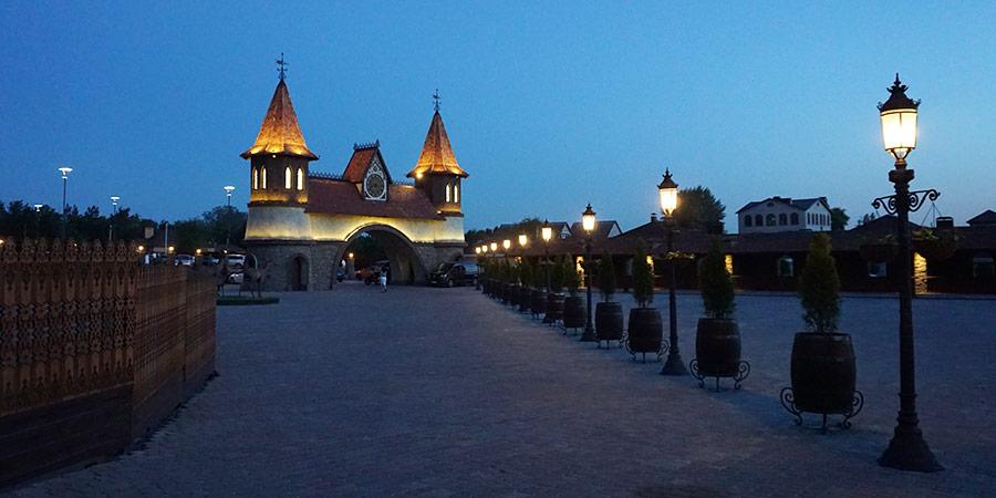Парк Лога подсветка вечером иллюминация