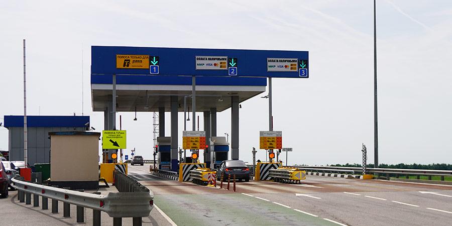 Полосы для оплаты транспондером на трассе М4