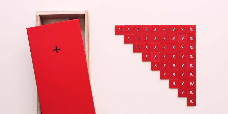 Ящик с примерами на сложение - Монтессори материалы