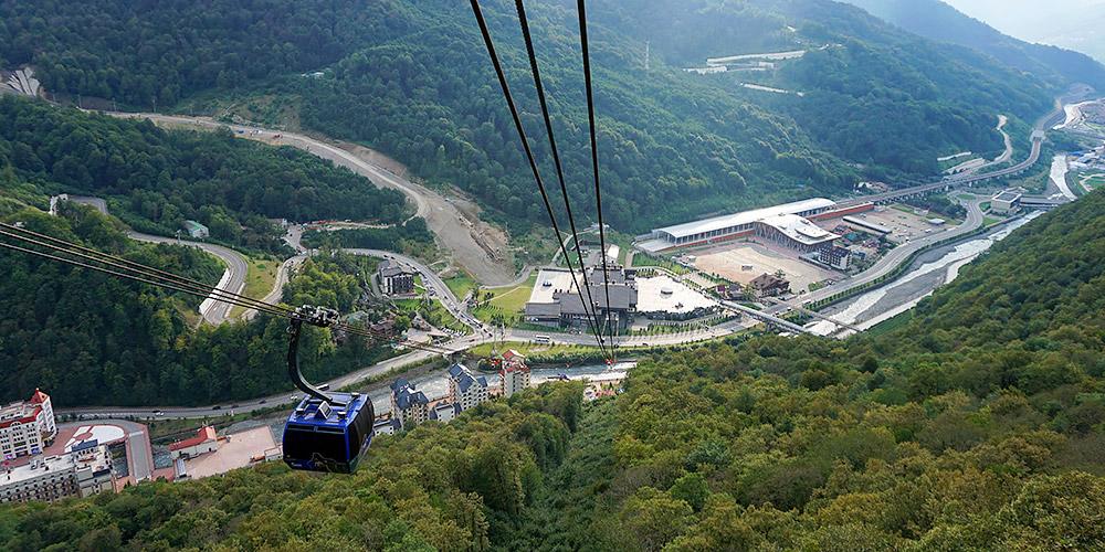 Канатная дорога А3 3S Газпром Альпика Красная Поляна