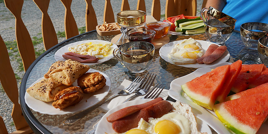 Завтрак в гостинице Горец Инн