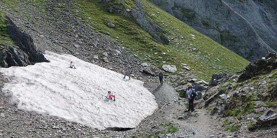 Ледник у перевала Софийское седло