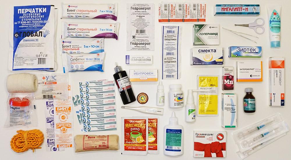 Лекарства в походную аптечку