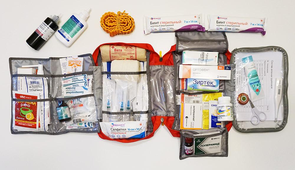 Список необходимых лекарств в походную аптечку