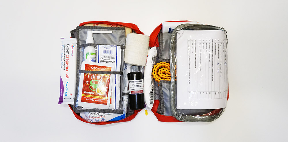 Укладка и упаковка групповой аптечки