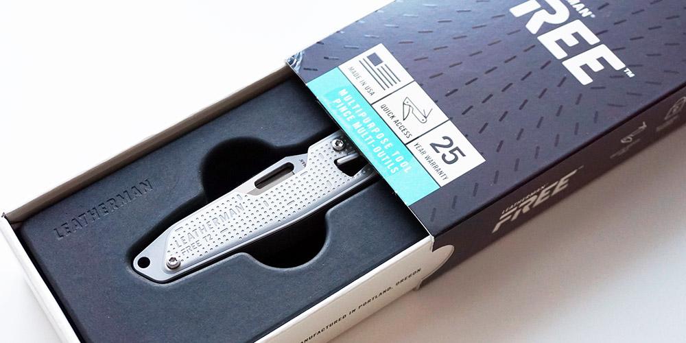 Упаковка мультитула ножа Leatherman Free T2