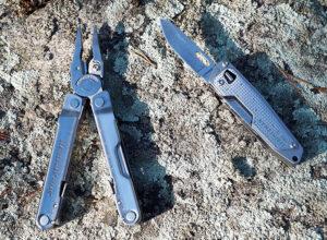 Мультитул Leatherman Rebar и складной нож Free T2 в походе