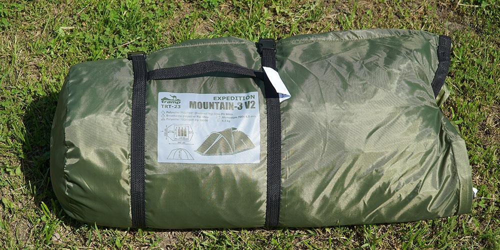 Экспедиционная палатка Tramp Mountain 3 v2 в собранном виде