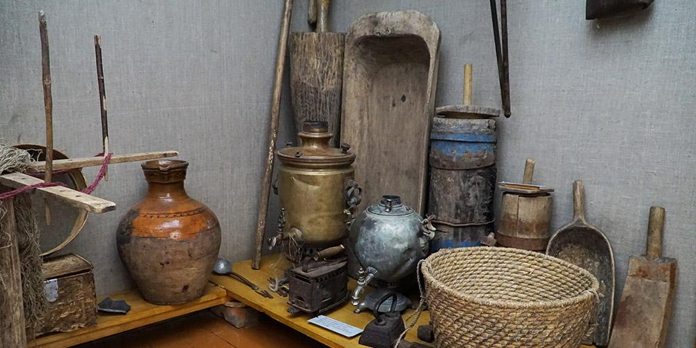 Экспозиция музея в Орловском полесье