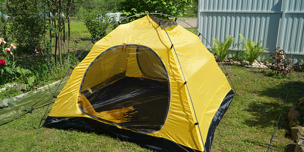 Палатка в собранном виде без тента