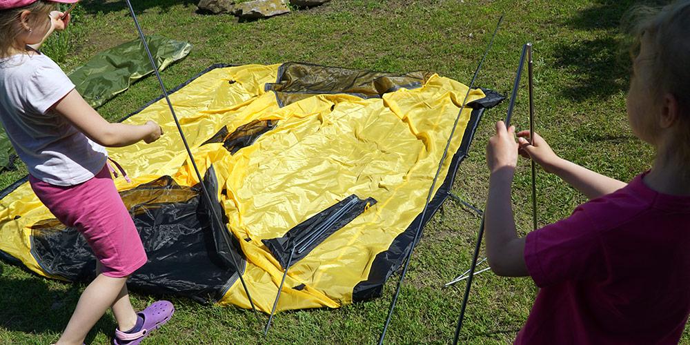 Установка экспедиционной палатки Tramp Mountain 3 1