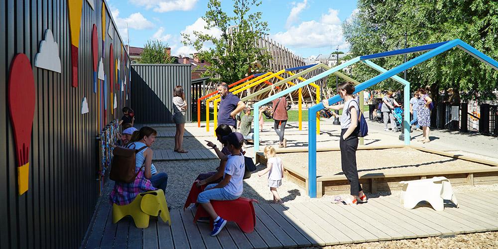 Детская площадка в парке Новая Голландия