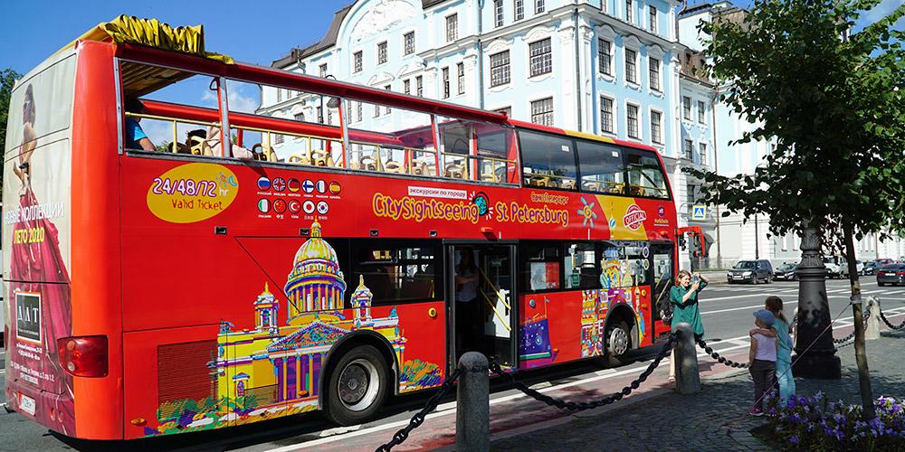 Экскурсия на двухэтажном автобусе по Санкт-Петербургу