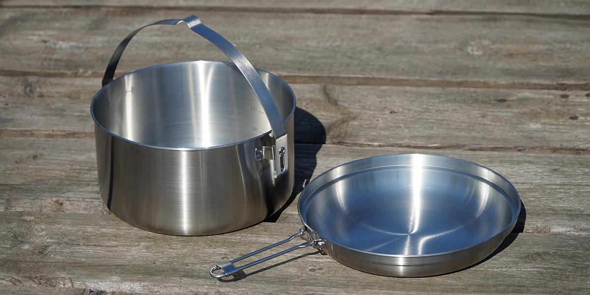 Кастрюля и сковорода Tatonka для приготовления еды на газовой горелке