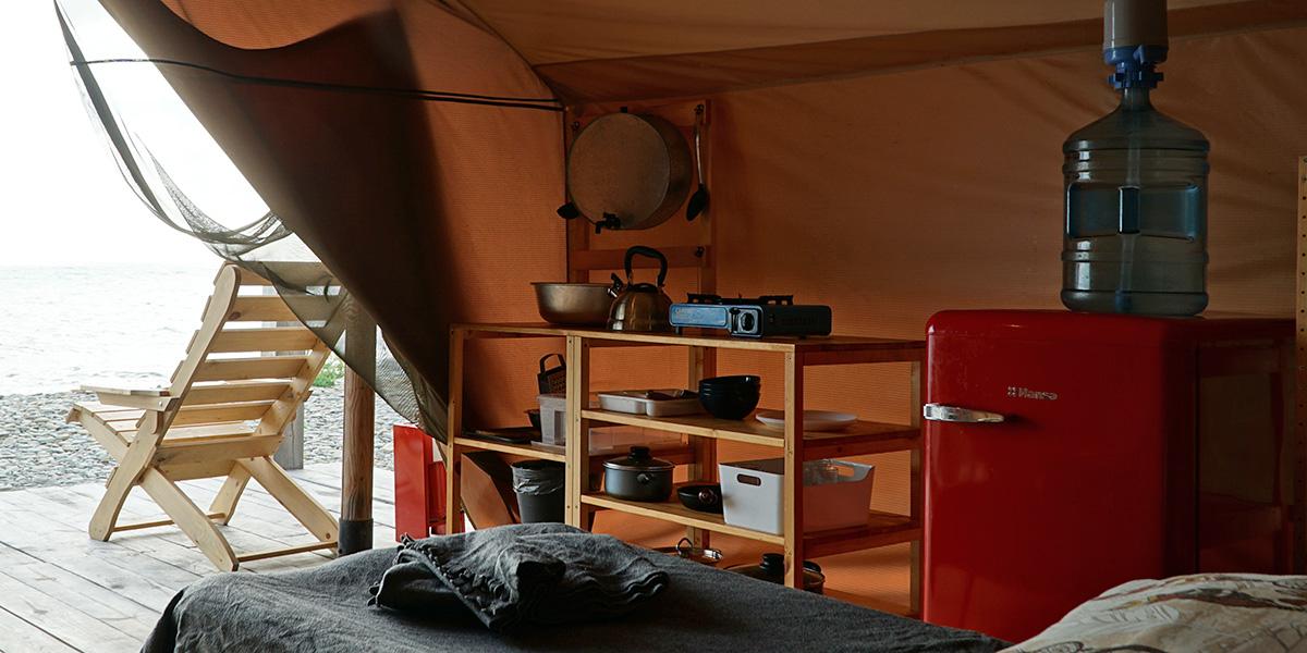 Интерьер палатки